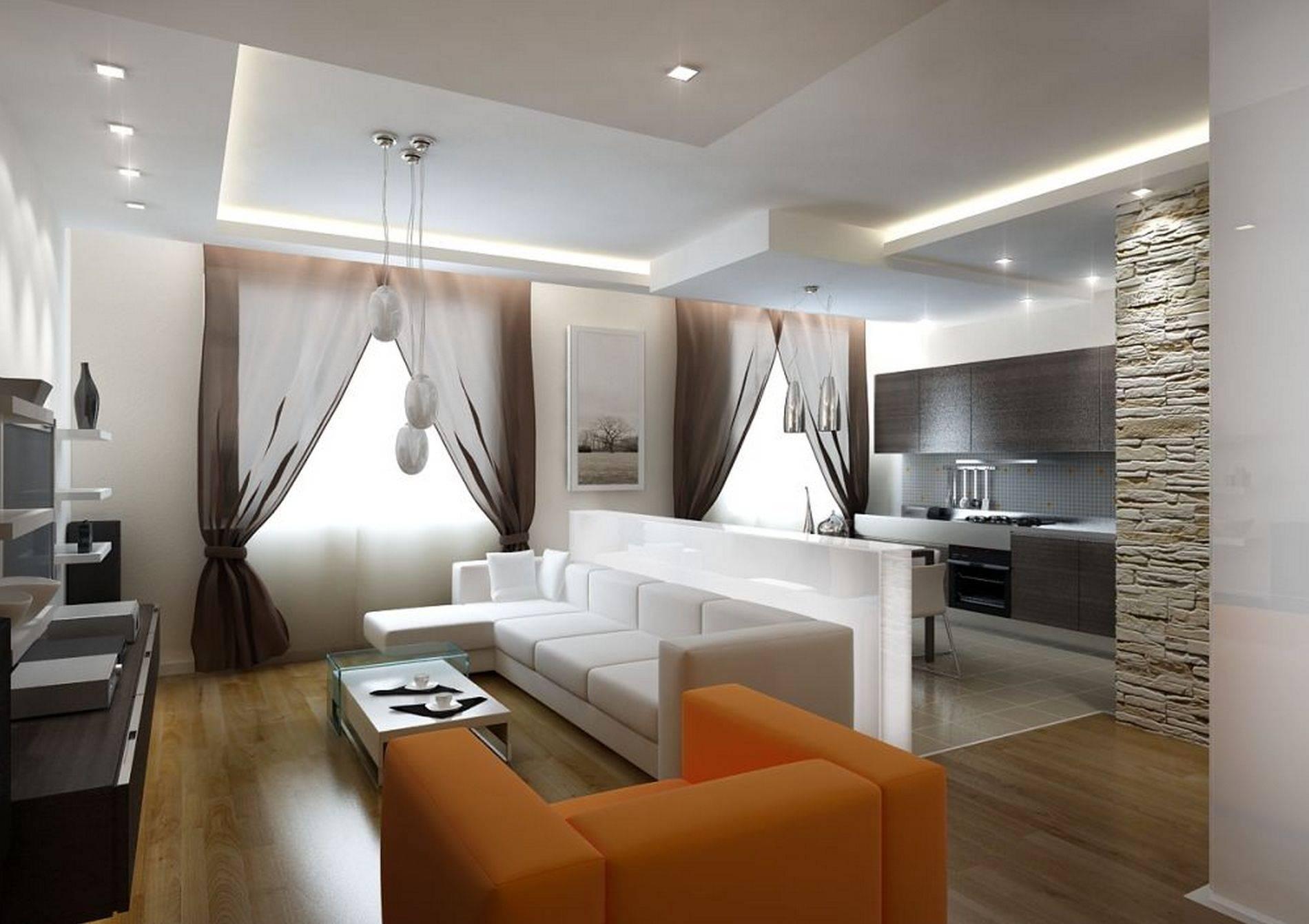 20 лучших примеров дизайна кухни-гостиной 25 кв. м
