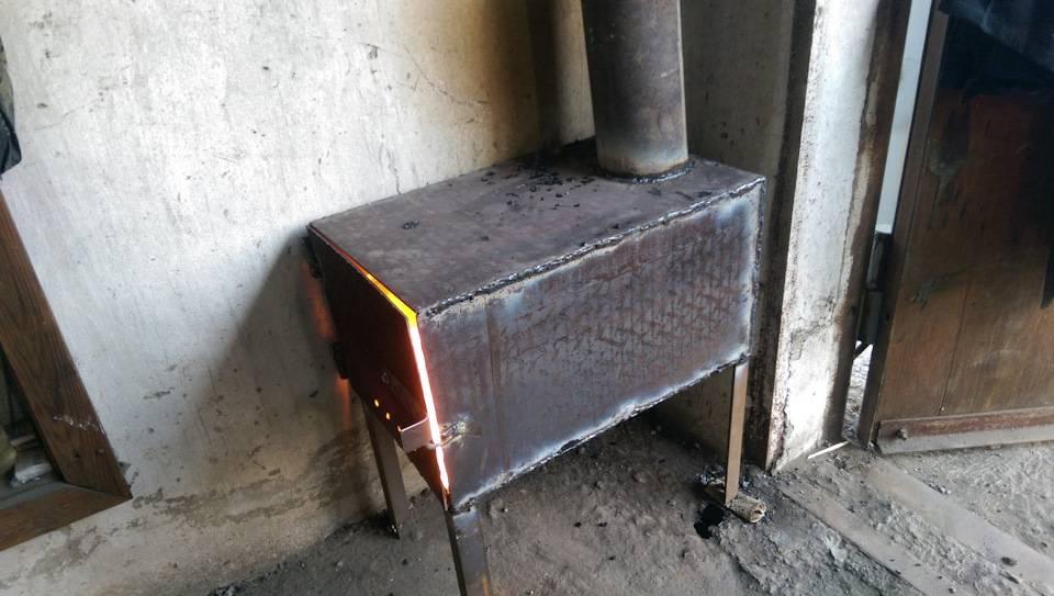 Как сделать буржуйку на опилках длительного горения