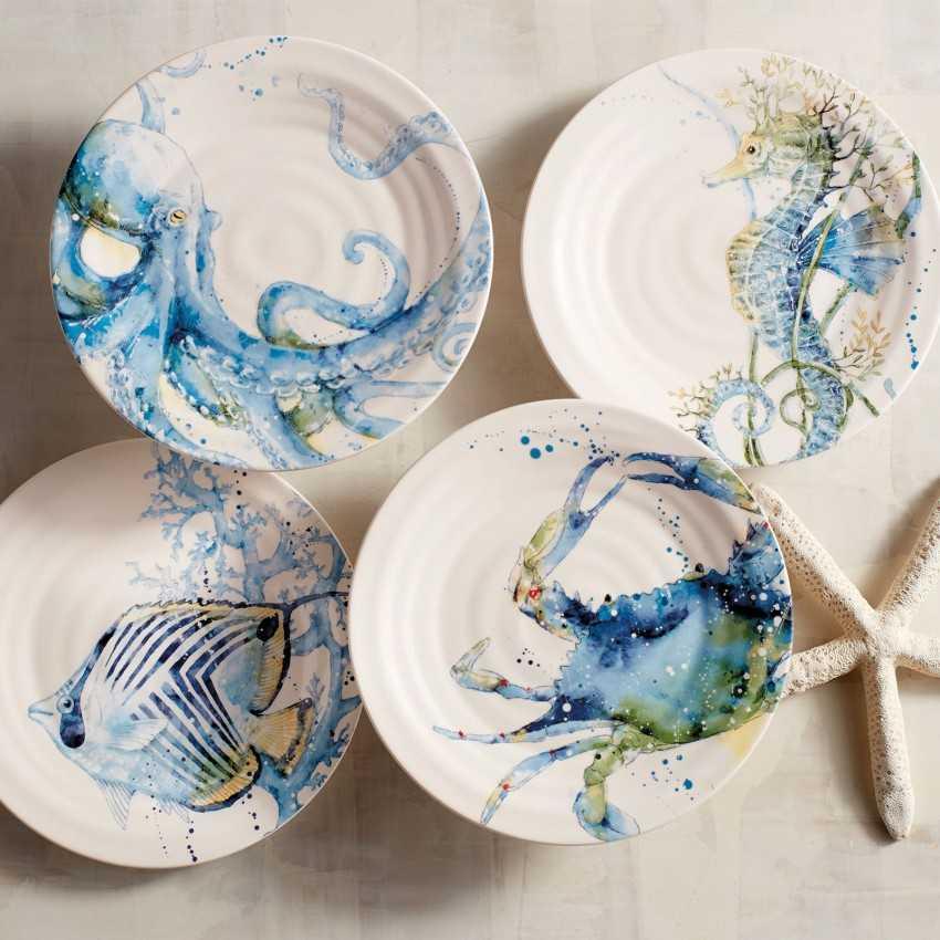 Тарелки на стену – идеи красивого украшения. 90 фото оригинального декора