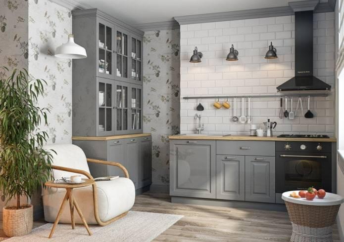 Дизайн кухни в стиле прованс, выбор цветовой гаммы, фото в интерьере