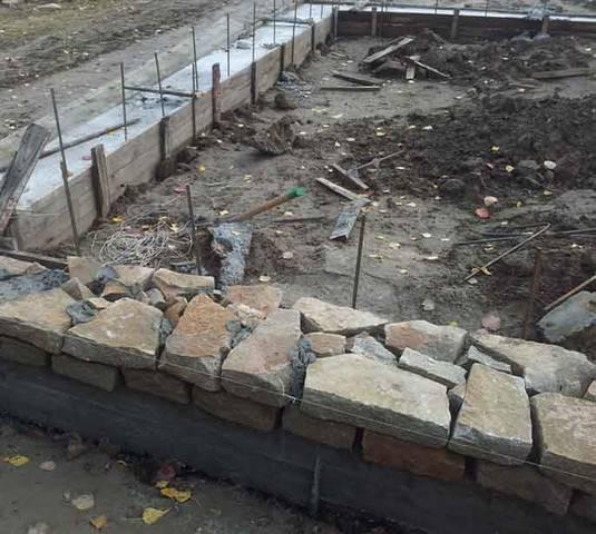 Кладка стен из бутового камня своими руками