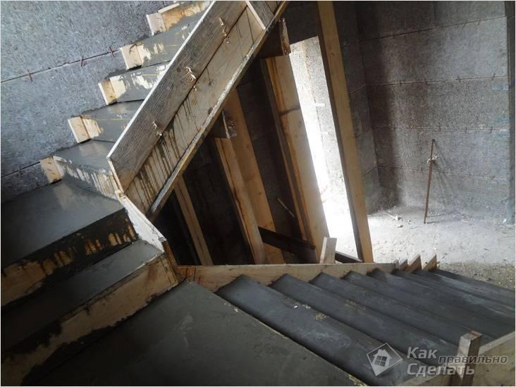 Бетонная лестница в доме: расчет, устройство, инструкция
