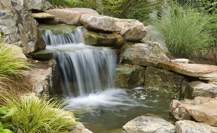 Водопад на даче своими руками - как сделать (+фото)   стройсоветы