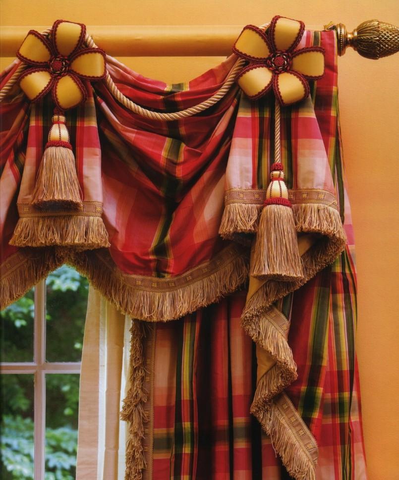 Декор штор - 80 фото пошаговой инструкции как переделать и обновить старые шторы