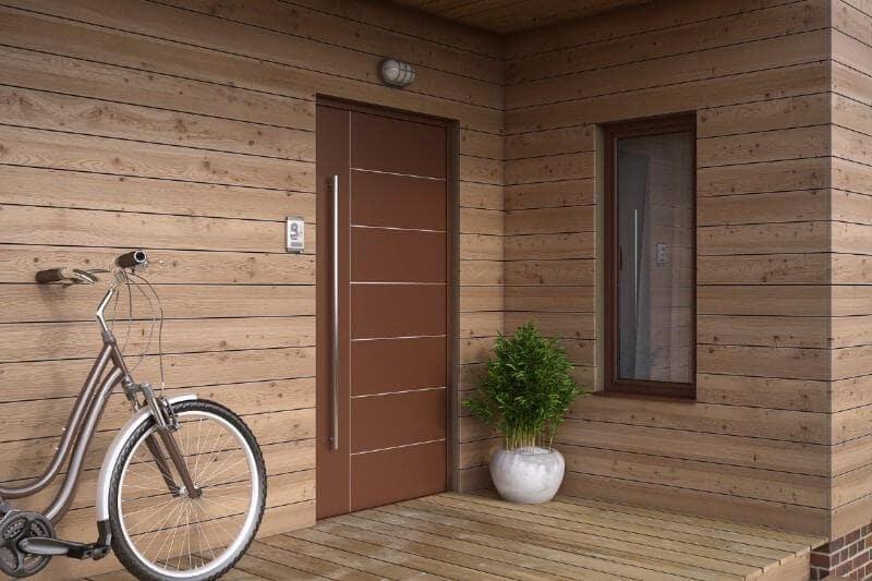 Размеры входных дверей в загородных домах