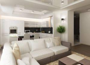 20 идей для кухни-гостиной 18 кв м