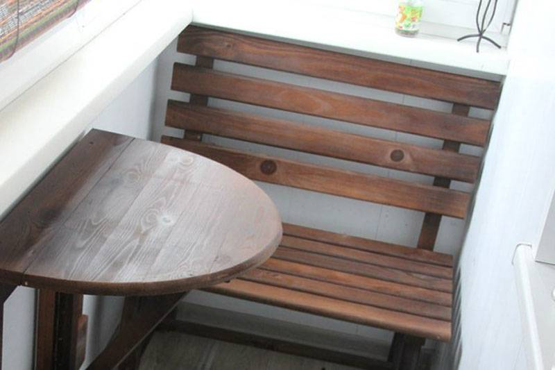 Как своими руками сделать откидной столик на балконе