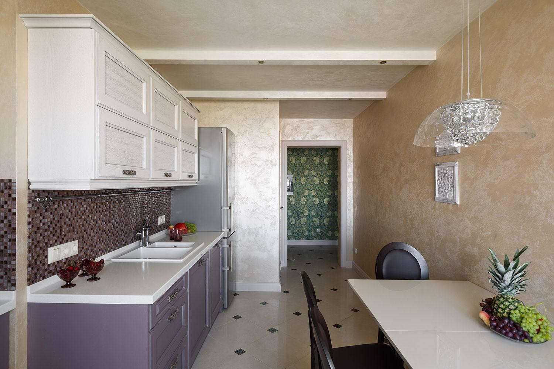 Декоративная штукатурка на кухне: особенности оформления интерьера