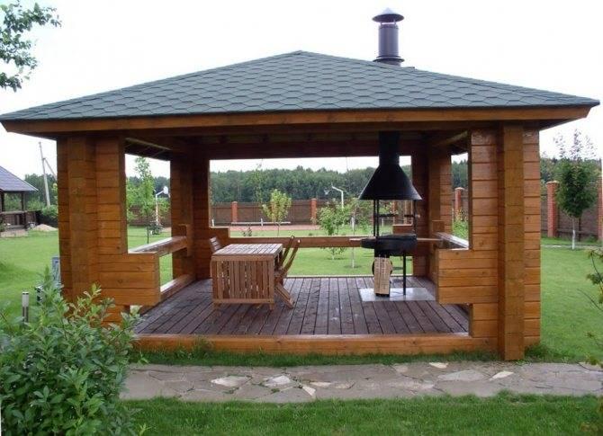Домики-беседки: дом-беседка для дачи размером 3х3 и садовые дачные постройки из минибруса