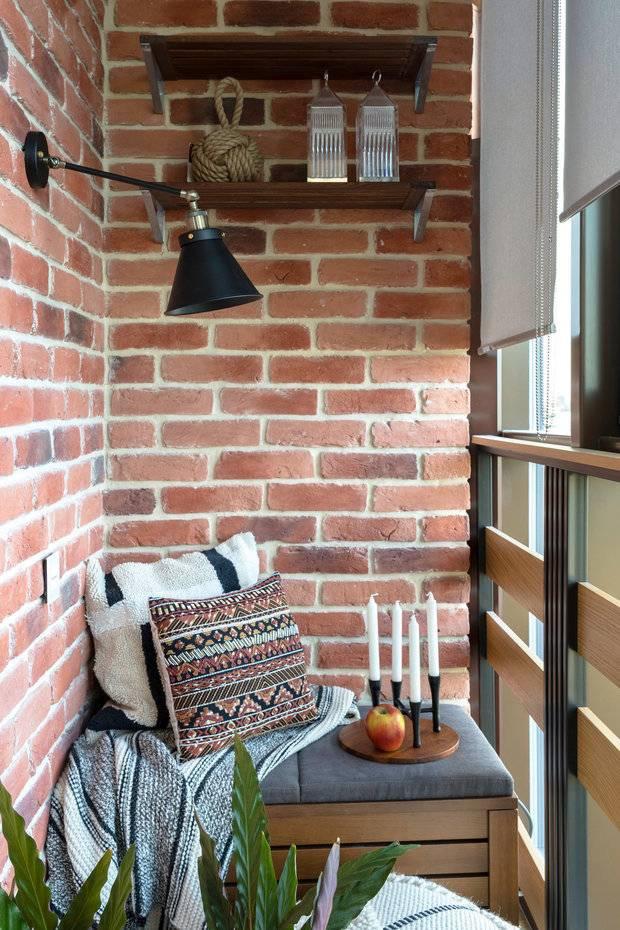 Балконы и лоджии в стиле лофт (70 фото): дизайн интерьера маленького балкона в стиле лофт, отделка белым и красным кирпичом