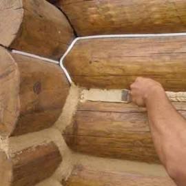 Чем заделать трещины в бревнах сруба