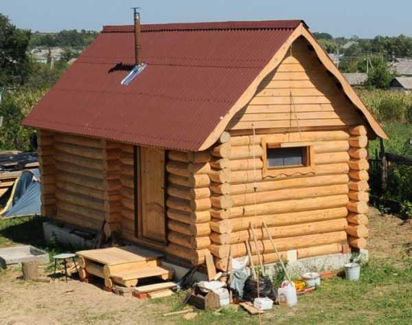 Маленькая баня (1,8 на 3,5) на даче - как сделать, с видео