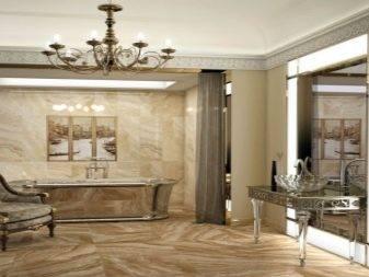 Керамогранит для стен в ванной под камень: порядок укладки