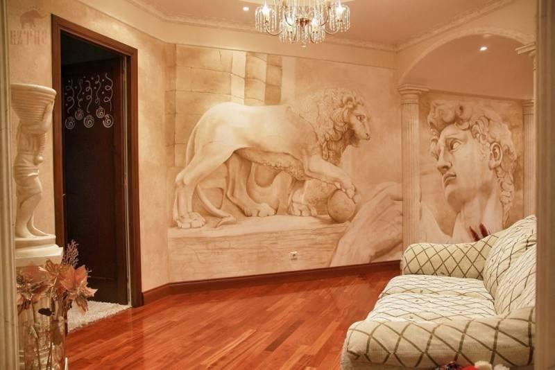 Фреска на стену — современные идеи и варианты их применения в актуальном дизайне (125 фото и видео)