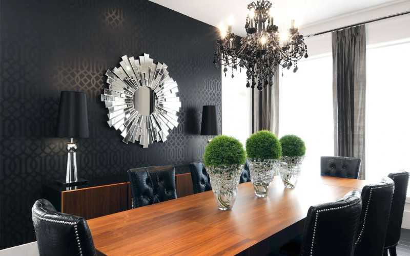 Черные обои — идеи дизайна и правила удачных сочетаний для создания оригинального стиля