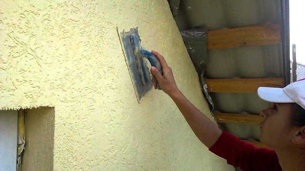 Штукатурная отделка «Шуба» для частного дома своими руками: фото и видео советы