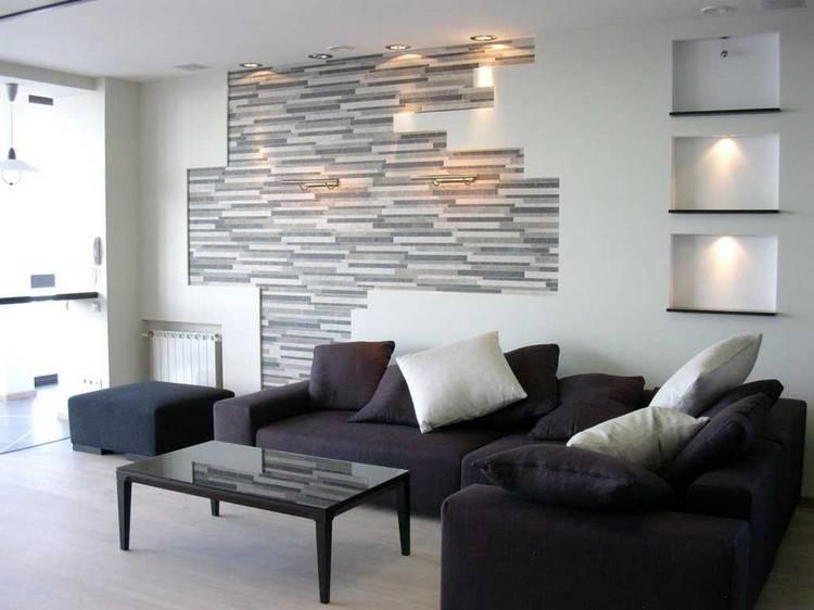 Дизайн интерьера гостиной: оформление ниши из гипсокартона