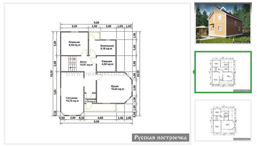 Планировка дома из бруса + фото и проекты