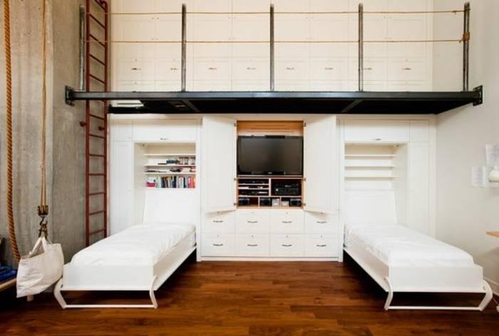 Оригинальная кровать-шкаф трансформер от икеа: особенности и фото