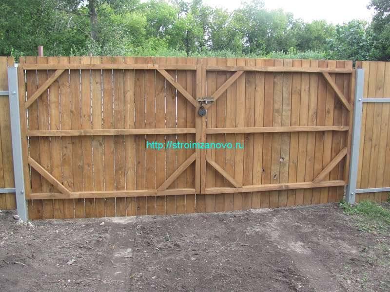 Ворота на дачу своими руками - всё о воротах и заборе