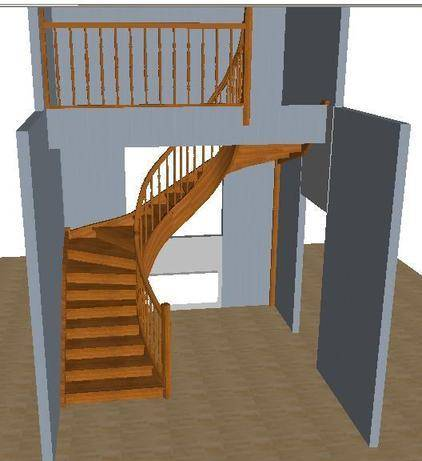 3d расчет металлической лестницы с тетивой зигзаг