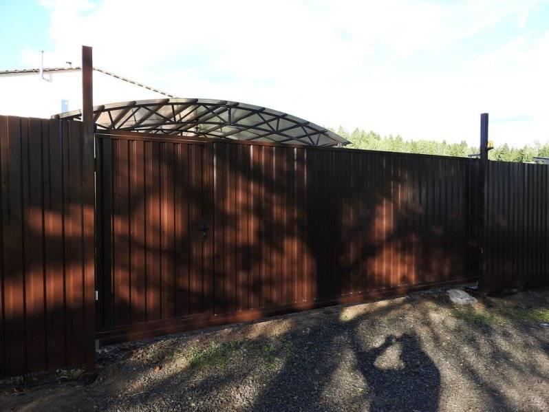 Устройство и установка откатных ворот с калиткой