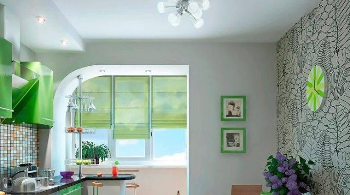 Дизайн кухни, совмещенной с балконом - 75 фото, идей и правил