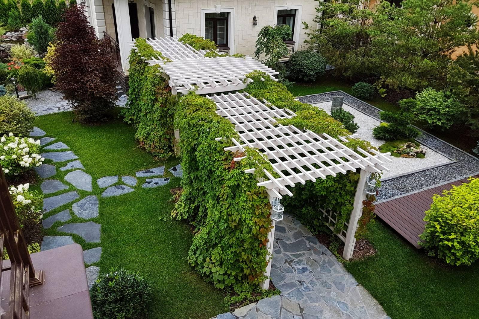 Ландшафтный дизайн узкого участка (55 фото): рекомендации по декору длинной территории перголами, клумбы рядом с домом