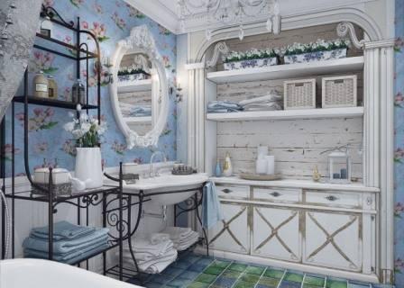 Дизайн ванной в стиле прованс: идеи интерьера