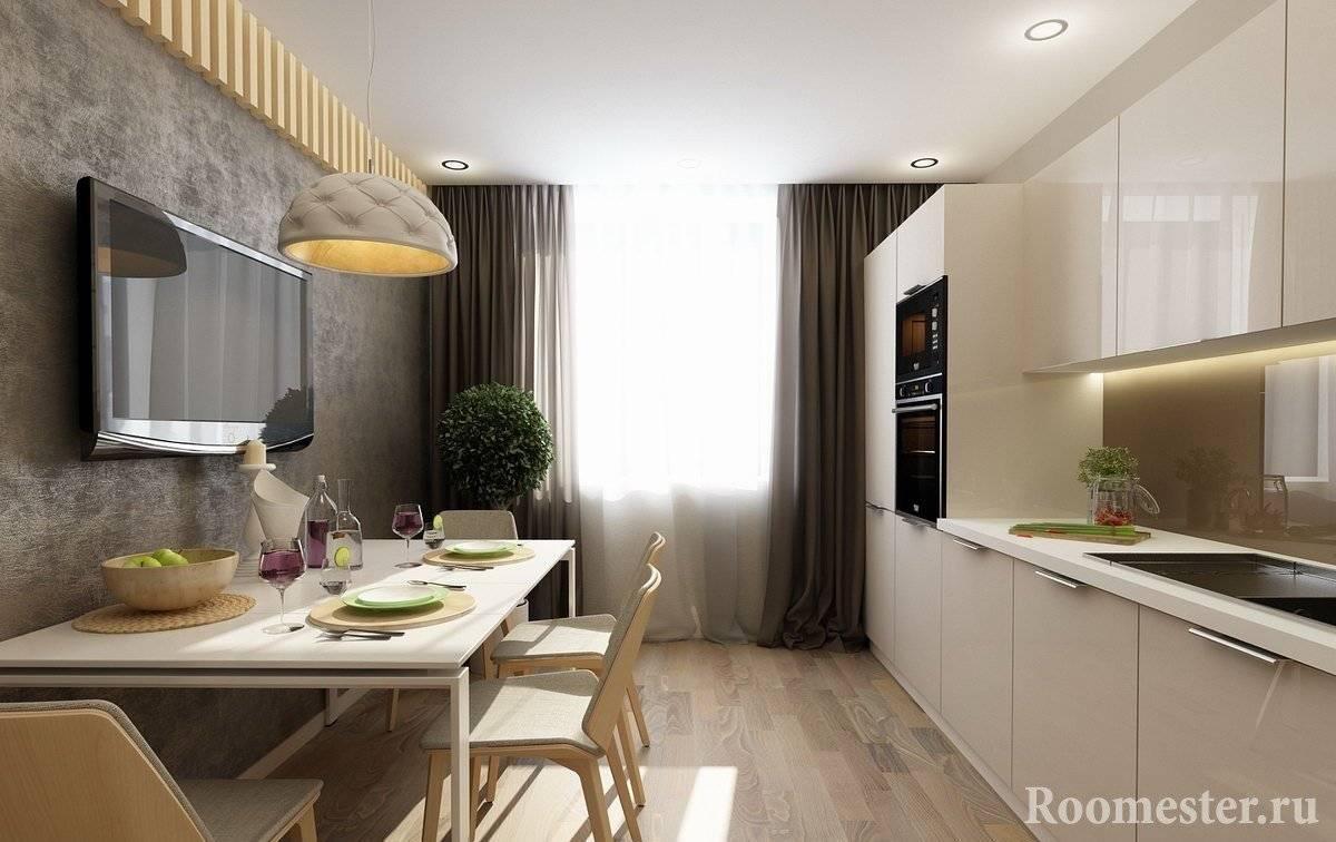 Прямоугольная кухня - 130 фото реального интерьера с вариантами дизайна
