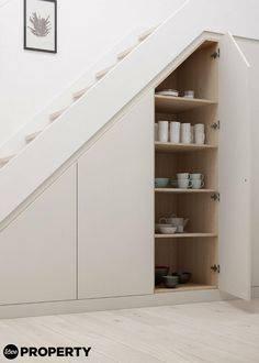 Шкаф под лестницей — особенности конструкции, правила выбора