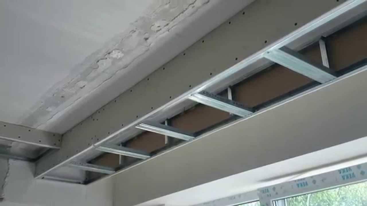 Как сделать каркас из профилей для короба из гипсокартона на потолке: видео