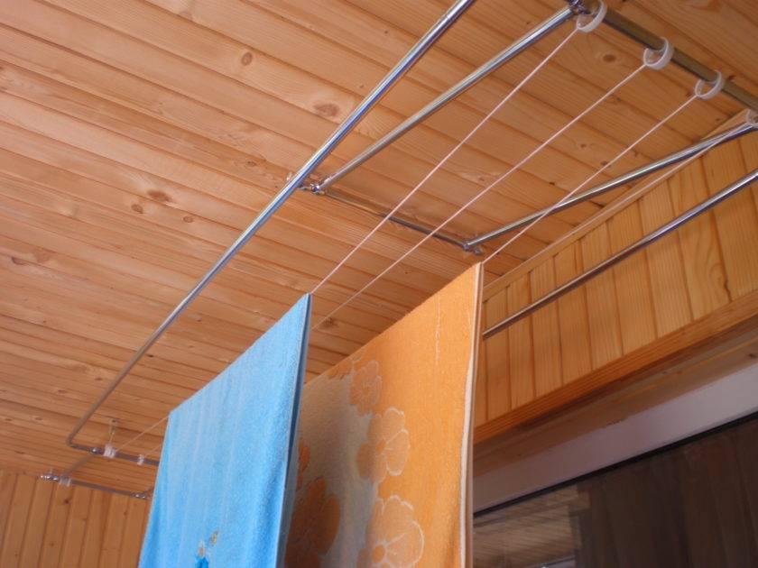 Сушилки для белья на балкон (52 фото): подвесные и другие балконные приспособления для сушки белья, виды бельевых вешалок на лоджию