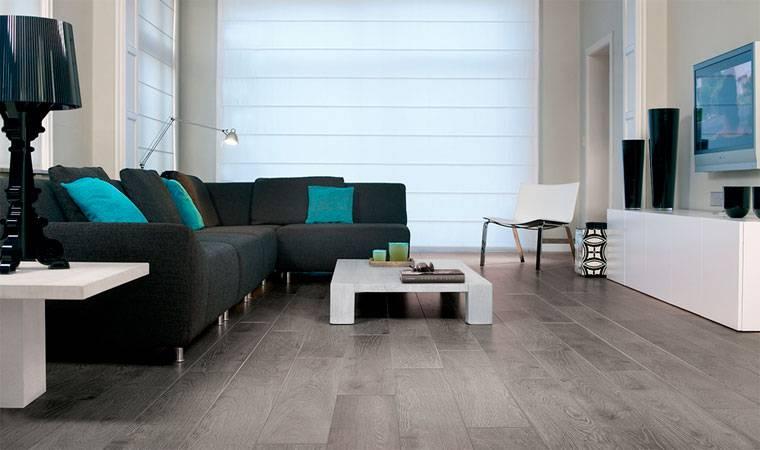 Ламинат серого цвета в дизайне комнаты: особенности, фото