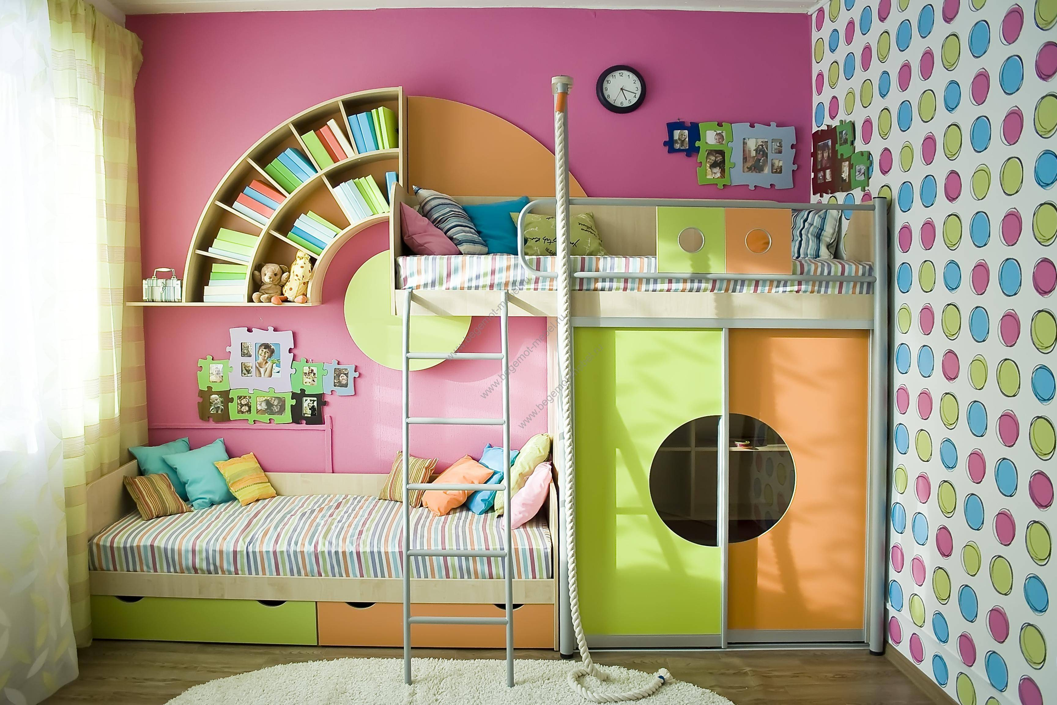 Зонирование комнаты для родителей и ребенка (65 фото) - детская и спальня, гостиная и детская в одной комнате