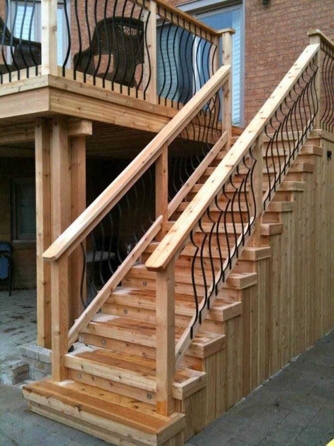 Как сделать входную лестницу в дом своими руками