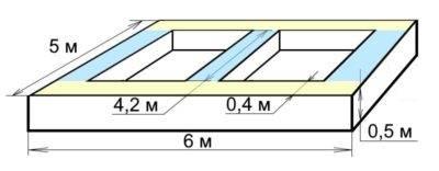 Сборный ленточный фундамент: чертеж и размеры