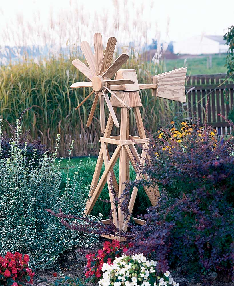 Декоративная мельница для сада своими руками: фото, чертежи и технология изготовления