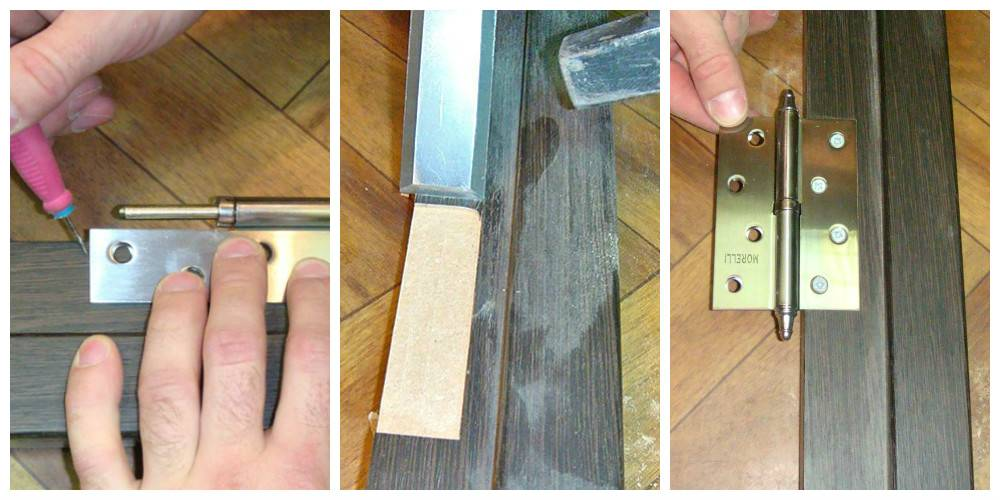 Установка петель на межкомнатные двери: как правильно поставить их своими руками