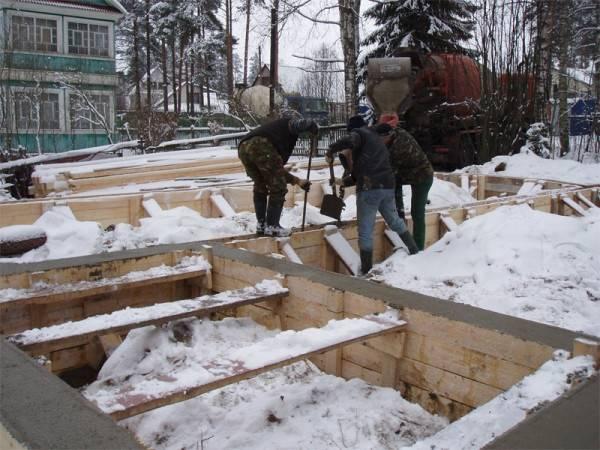 При какой температуре можно заливать бетон на улице