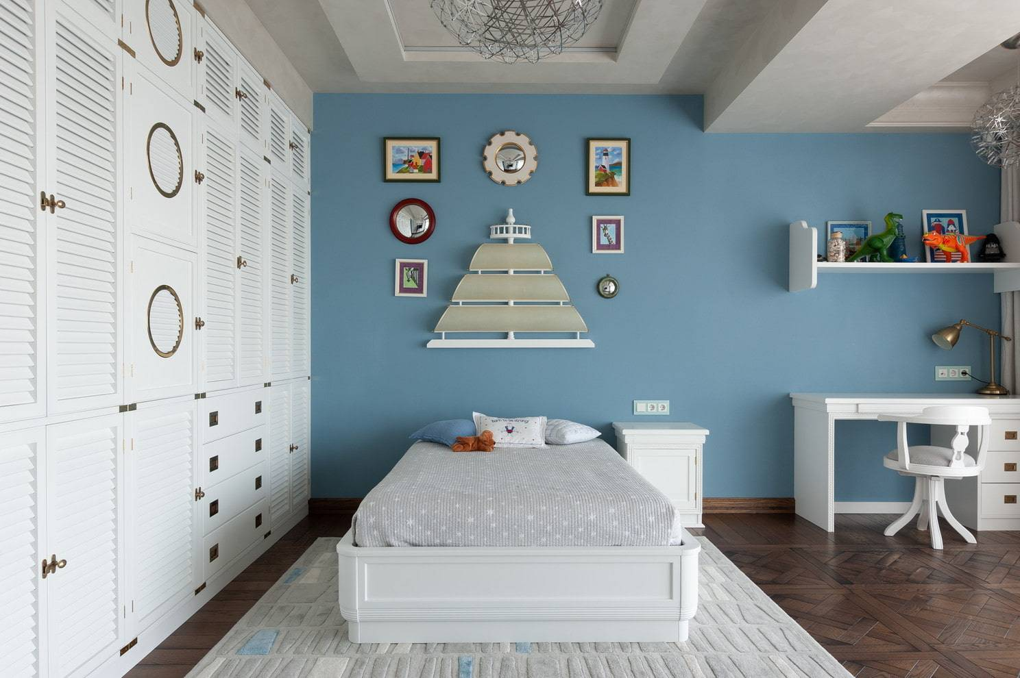 Детская комната в морском стиле - варианты оформления интерьера для мальчика и девочки, планировка и зонирование пространства, идеи на фото