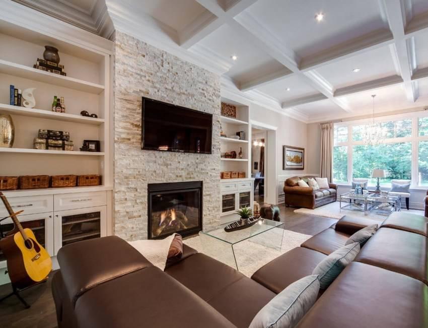 Гостиная в частном доме – интересные идеи дизайна и оформления гостевой комнаты (1 фото)