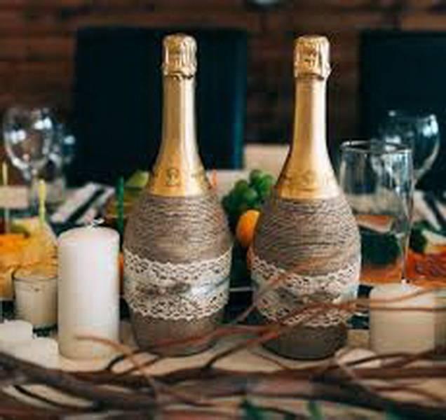 Как украсить бутылку шампанского на новый год 2019