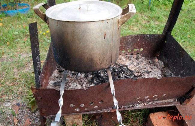 Изготовление коптильни горячего копчения своими руками