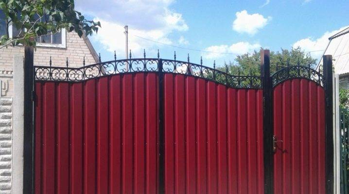 Ворота из профнастила своими руками: фото + видео