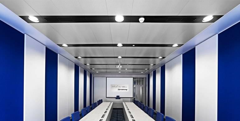 Акустический натяжной потолок: потолочная акустика как альтернативная шумоизоляция, отзывы
