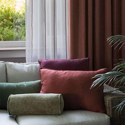 Тюль с горизонтальной полоской – интересное решение декора помещения (100+ фото)
