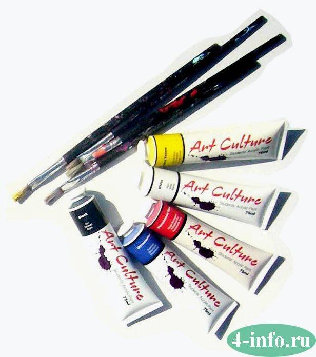 Акриловые краски: характеристики, достоинства, область применения