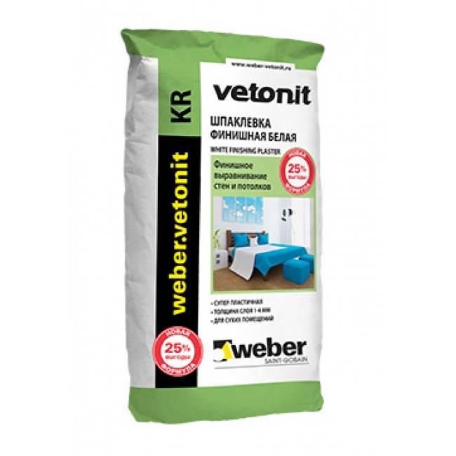 Финишная шпаклевка vetonit: смеси для отделки сухих помещений в упаковках по 25 кг, полимерная шпатлевка