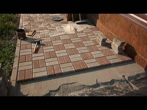 Как класть брусчатку и тротуарную плитку на песок